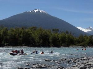 kayak y volcan